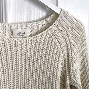 Wilfred Ivory Randonnai Linen Knit Pullover
